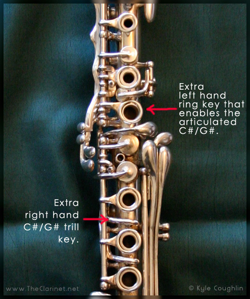 Alternate right hand trill key on the Silva-Bet clarinet.