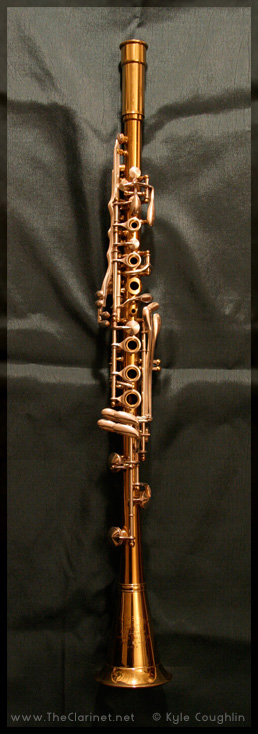 The Cleveland clarinet, made by H. N. White.