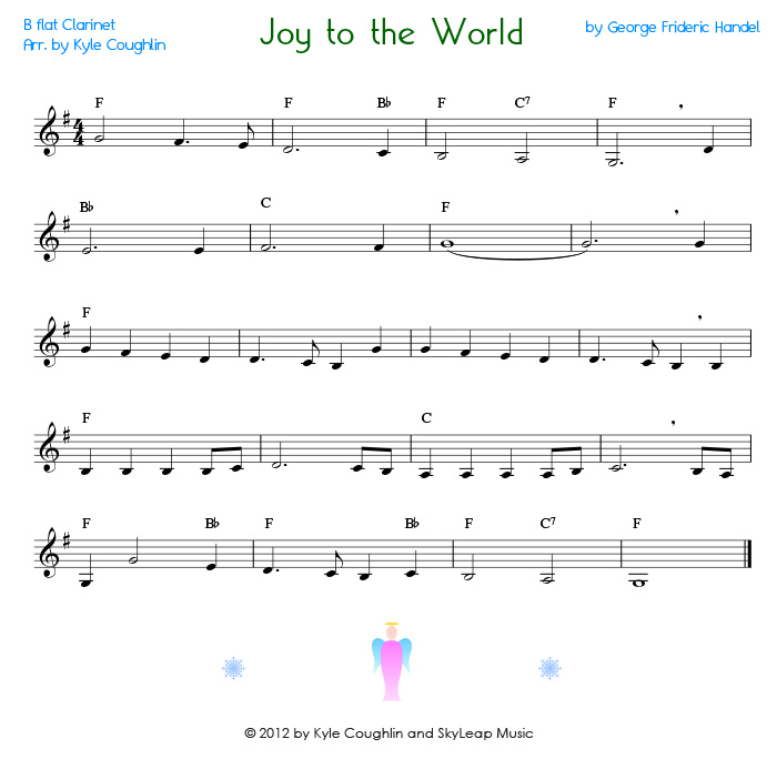 View the printable version of Joy to the World or select the image ...